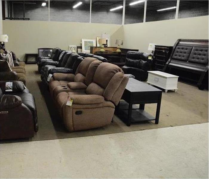 Commercial Water Damage – Rexburg Furniture Store After