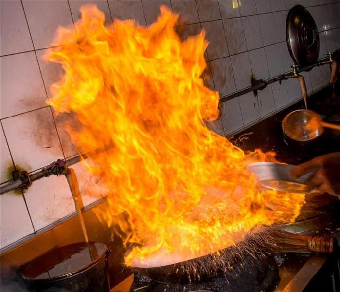 A Residential Grease Fire Starts In The Kitchen Servpro